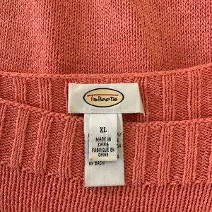 Talbots Sweaters - TALBOTS Coral Rayon Blend Boatneck Sweater